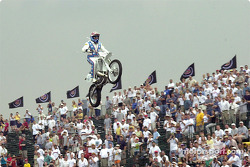 Robbie Knievel in flight