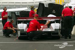 Team Audi pit area