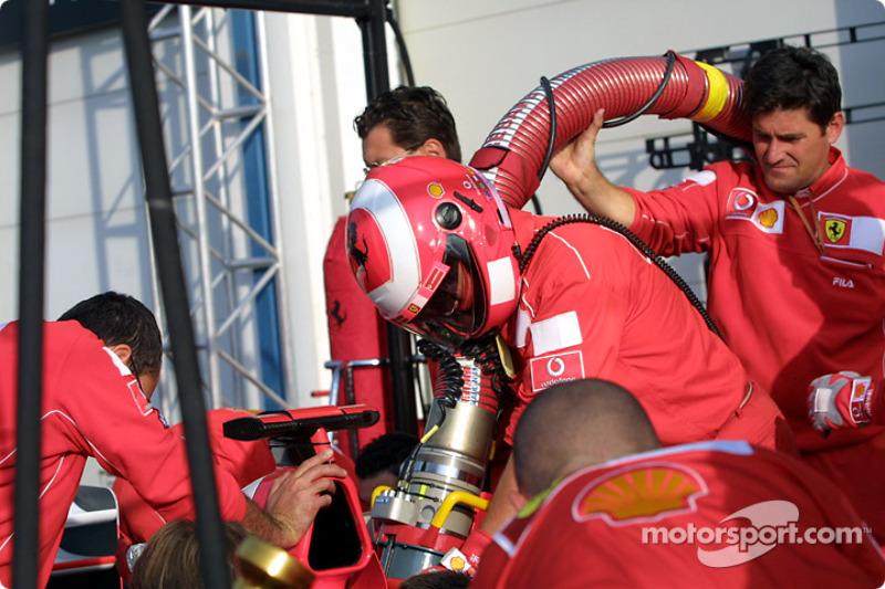 Pitstop practice for Team Ferrari