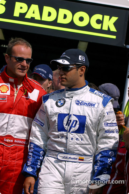 Rubens Barrichello and Juan Pablo Montoya