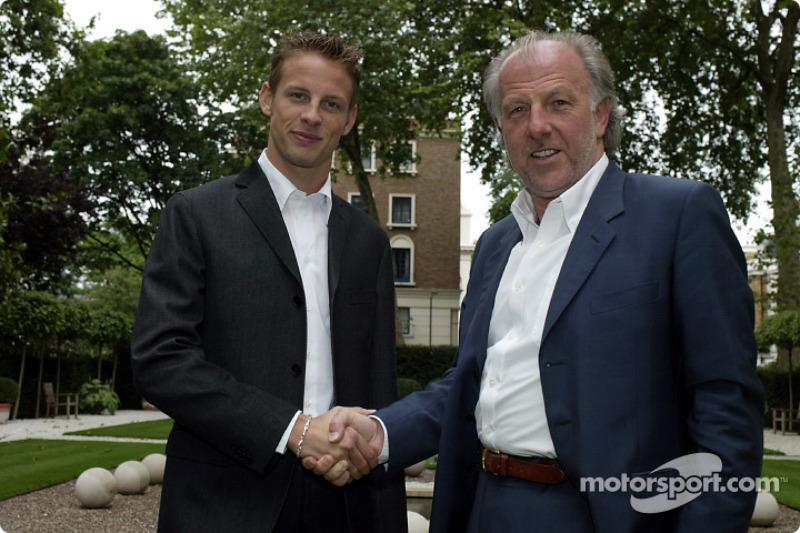 Jenson Button y David Richards