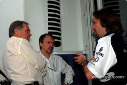 Patrick Head Directeur technique de Willaimas F1 avec Heinz Paschen et Gavin Fisher