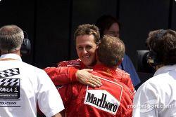 Michael Schumacher et Rubens Barrichello