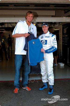 Dirk Nowitzki avec Ralf Schumacher