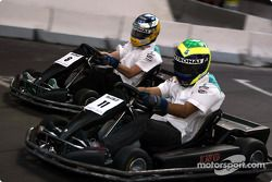 Go-kart with Felipe Massa and Nick Heidfeld