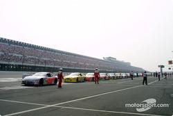 La course recommence après la pluie