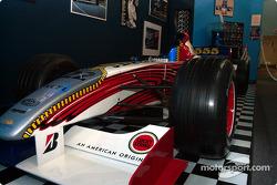 Visit to Gilles Villeneuve Museum: Jacques Villeneuve BAR 001