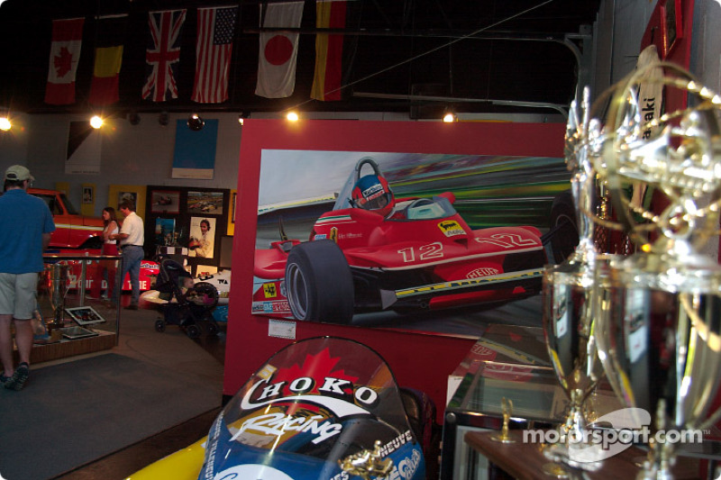 Visita al museo de Gilles Villeneuve: vista general