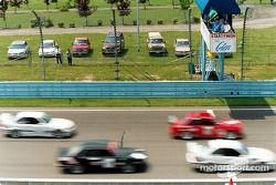 Debout de la course de la BMW