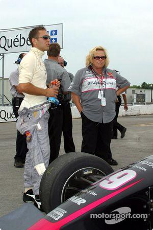 Michael Valiante et le propriétaire de l'équipe Peggy Haas
