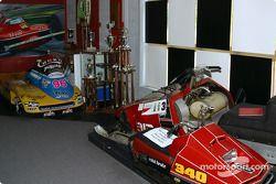 Visite au musée Gilles Villeneuve: the snowmobiles
