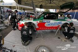 Área de servicio del Equipo Hyundai World Rally