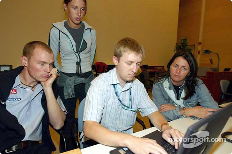 Richard Burns durante una charla web