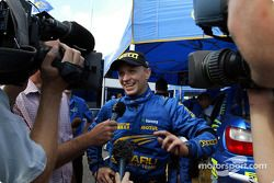 interview TV pour Petter Solberg