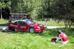 Thomas Radstrom after a crash