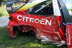 El Citroën accidentado Thomas Radstrom