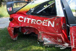 Thomas Radstrom's wrecked Citroën