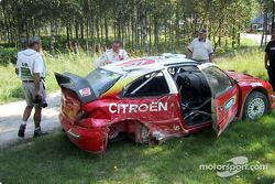 Thomas Radstrom tras el accidente