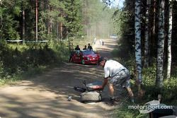 Thomas Radstrom's wrecked Citroën