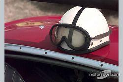 Helmet on red deck