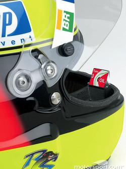 Présentation de l'affichage à tête haute pour le casque de Ralf Schumacher dévellopé par BMW