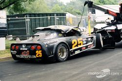 Lou Gigliotti's Corvette after the accident