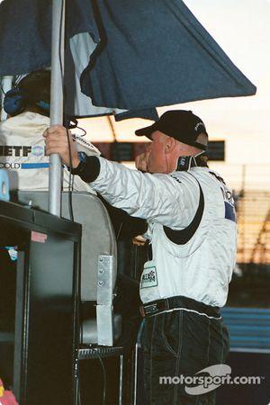 Rob Dyson eagerly awaits the finish