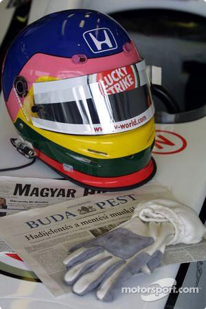 Casque de Jacques Villeneuve