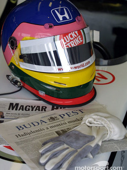 Casque de Jacques Villeneuve