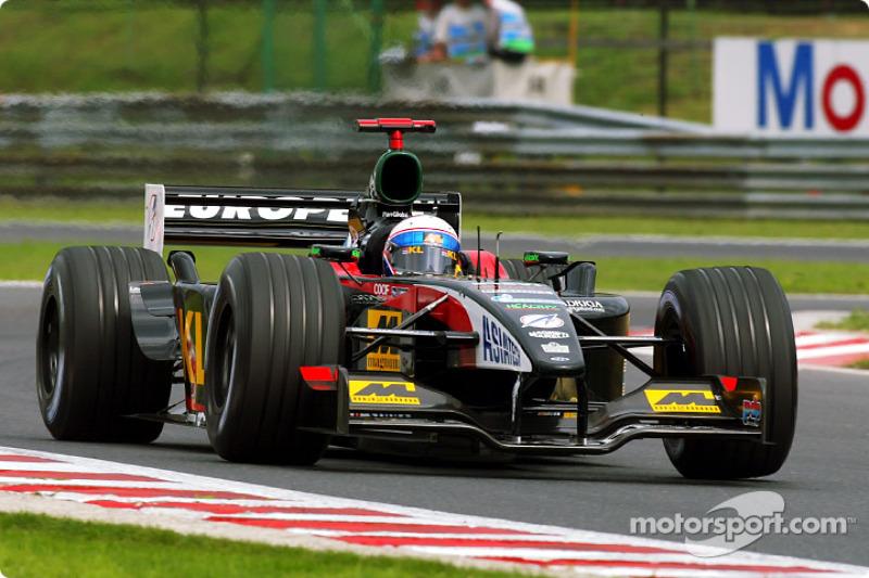 2002 год. Энтони Дэвидсон. 2 гонки в Minardi