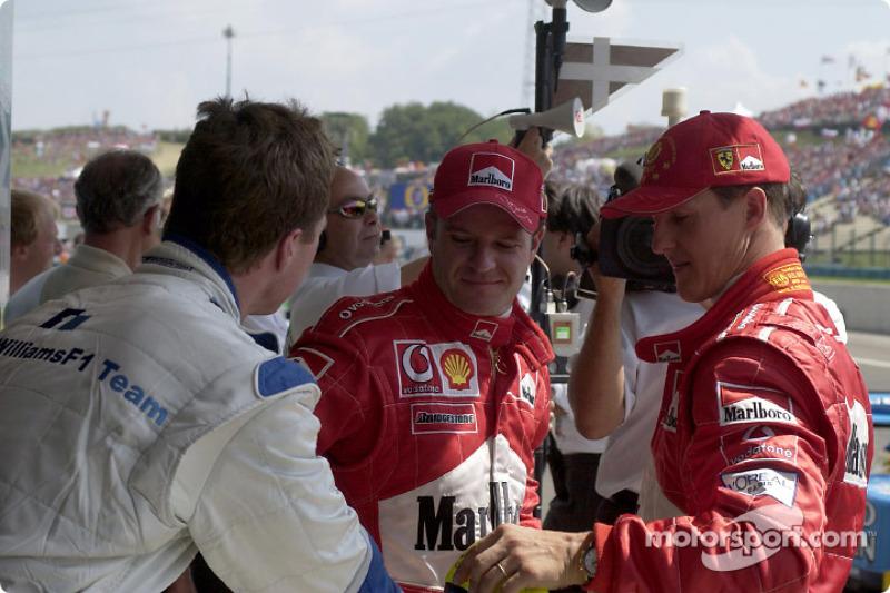 Ralf Schumacher, Rubens Barrichello y Michael Schumacher