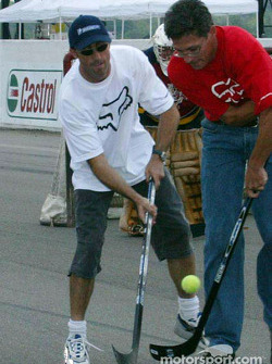On-track hockey game: David Brabham