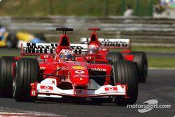 Rubens Barrichello, Ferrari F2002, Michael Schumacher, Ferrari F2002