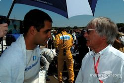 Juan Pablo Montoya and Bernie Ecclestone