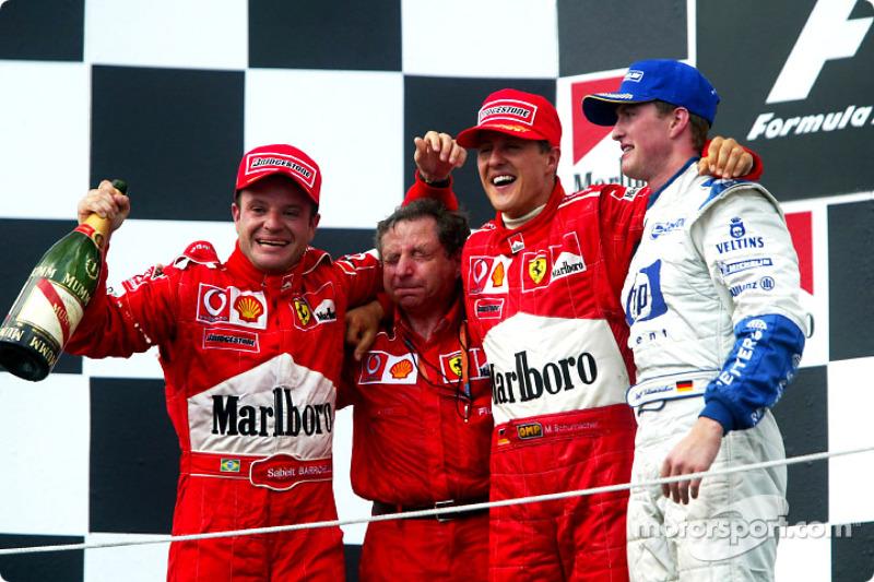 Ferrari, 2002 Macaristan ile 2002 Japonya GP arası 5 yarış