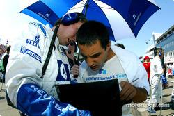 Juan Pablo Montoya sur la grille de départ