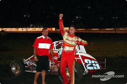 Bud Kaeding led wire-to-wire in Friday night's SCRA Non-Winged World Championship 20-lap feature at Lakeside Speedway