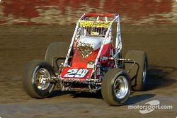 Bud Kaeding of Campbell, Calif., in action Friday at Lakeside Speedway during the SCRA Non-Winged World Championship stop