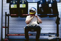 Jacques Villeneuve se prépare pour la course