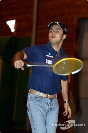 Visit at the Malmedy Handball Club and the Badminton Club de Malmedy: Felipe Massa