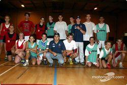 Visit at the Malmedy Handball Club and the Badminton Club de Malmedy: Nick Heidfeld and Felipe Massa