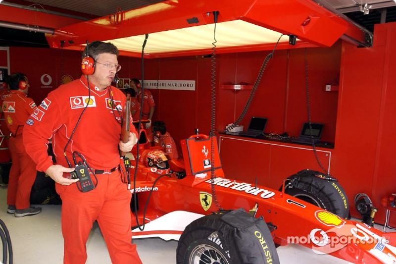 Ross Brawn y Michael Schumacher