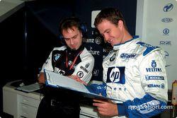 Ralf Schumacher and engineer Craig Wilson