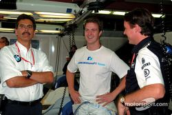 Dr. Mario Theissen, Ralf Schumacher and Sam Michael