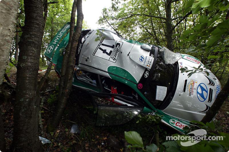 Auto accidentado de Armin Schwarz