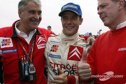 Rally winner Sébastien Loeb with Guy Fréquelin