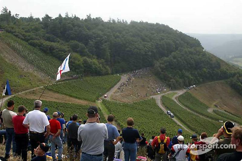 Espectadores en el Rallye Deutschland