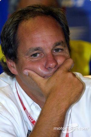 Press conference: Gerhard Berger