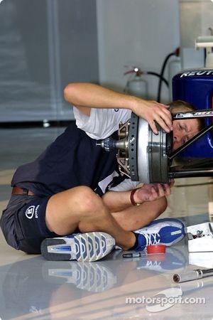 Preparándose para el día en Williams-BMW