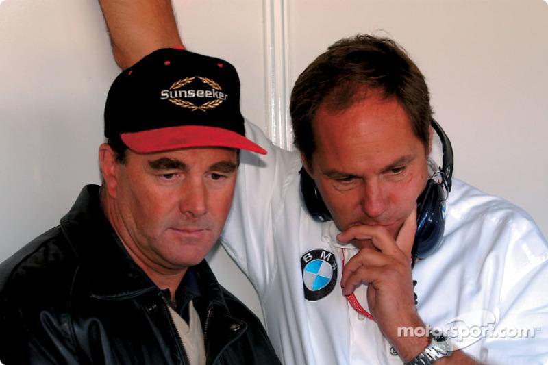 Nigel Mansell y Gerhard Berger